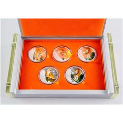 2010 Chinese Tiger Commemorative Coin 5 Coin Set