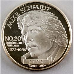 Ltd Ed. 1990 Mike Schmidt MLBP Silver Medallion