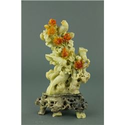 Chinese Shoushan Stone Carving w/ Stand