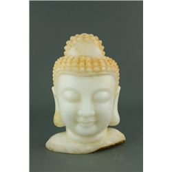 17/18th Century Chinese White Marble Buddha Head