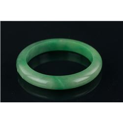Chinese Emerald Green Jadeite Bangle