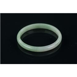 Chinese Green Jadeite Thin Bangle