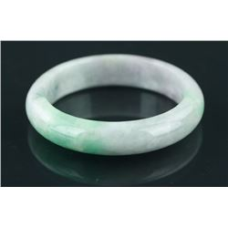Two Color Green Jade Bangle with Certificate