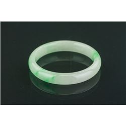 Chinese Grade A Green Jadeite Bangle with Cert