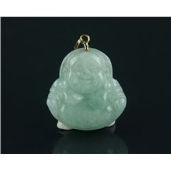 Laughing Buddha Jade Pendant With Certificate