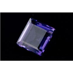 72 Ct. FACETED AMETHYST Violet SQUARE Emerald Cut