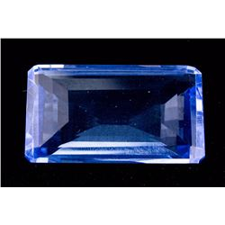 Emerald Cut Blue Topaz FACETED GENUINE 81.70 ct.