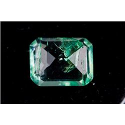 2.05ct Emerald Cut Green Natural Emerald Certified