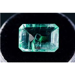 5.60ct Emerald Cut Green Natural Emerald Certified