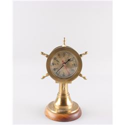 Marine Steering Wheel Style Barometer and Clock
