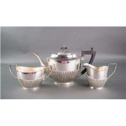 3 PC British R.M. E.P.N.S. Silverware  Teaware Set