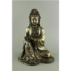 Qing Period Chinese Silver Guanyin Figure