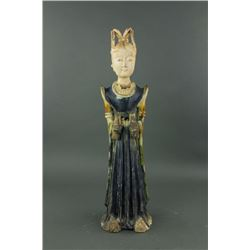 Tang Period Chinese Sancai Pottery Lady Figure