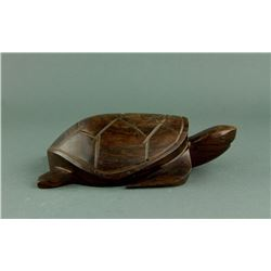 Chinese Huanghuali Wood Carved Turtle