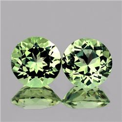 Natural Green Tea Color Amethyst Pair 12.00 MM - VVS