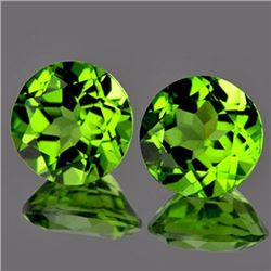 Natural Peridot Pair 8.00 MM - VVS