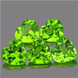 Natural Heart Peridot 3.57 cts - Flawless