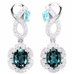 Natural London & Swiss Topaz Earrings