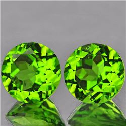 Natural  Green Peridot Pair 7.00 MM - VVS