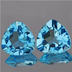 Natural Top Sky Blue Topaz Pair 10.00 MM
