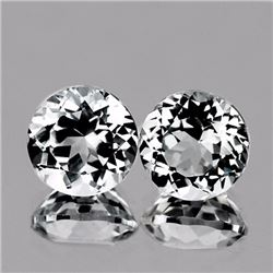 Natural Natural White Topaz Pair 8.00 MM - VVS