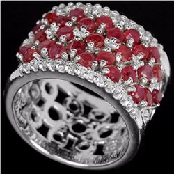 Natural Pigeon Blood Ruby Ring