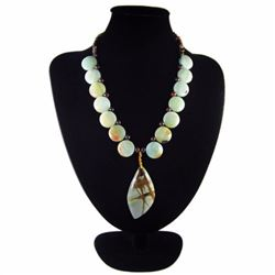 Natural Multi-Color Picasso Diamond Polished Necklace