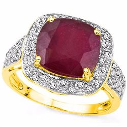 Genuine Ruby & Diamond Ring