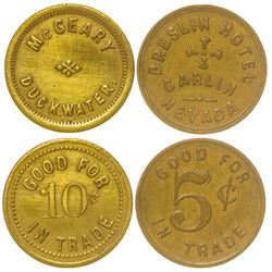 Two Nevada Tokens (Carlin and Duckwater)