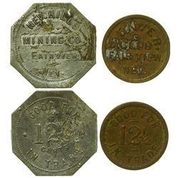 Two Fairview, Nevada Tokens