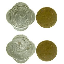 Red Top Bar Tokens (Goldfield, Nevada)