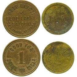 Nevada Ghost Town Saloon Tokens (Delamar & Luning)