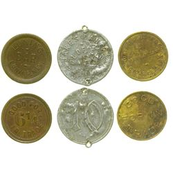 Three Nevada Mining Town Tokens (Manhattan, Goldfield, Luning)