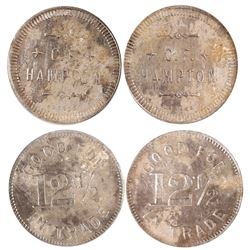Two CF Hampton Tokens (Unknown Nevada)