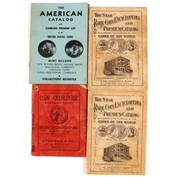 4 Old Coin Catalogs