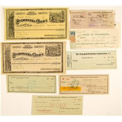 Nevada Check Collection (Comstock, Railroad, Mining)