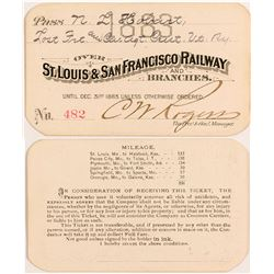 St. Louis & San Francisco Railway & Branches 1883 Pass