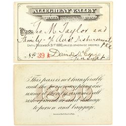 Allegheny Valley Rail Road 1880 Pass