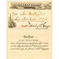 Allegheny Valley Rail Road Pass with Two Vignettes