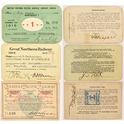 Three Canadian Railroad Passes