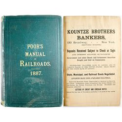 Poor's Manual of Railroads Of the US 1887