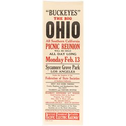Buckeyes Big Picnic Reunion Broadside (Pacific Electric Railway)