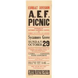 Combat Division A.E.F. Picnic Broadside (Pacific Electric Railway)
