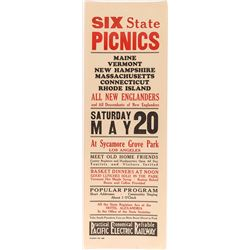 New England Picnic Broadside (Pacific Electric Railway)