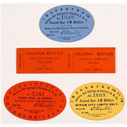 Early Helena Railroad Tickets/Paper Tokens