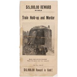 """Mini Wanted Poster for 1923 Oregon Southern Pacific Train Robber, """"The Siskiyou Massacre"""""""