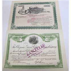 Two Different Arizona Giant Copper Mining Co. Stock Certificates