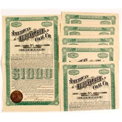 Six American Smokeless Coal Co. Gold Bonds