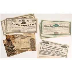 21 California Mining Stock Certificates