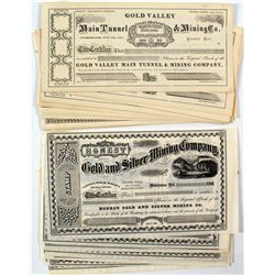 24 Nice California Mining Stock Certificates from 3 Different Companies